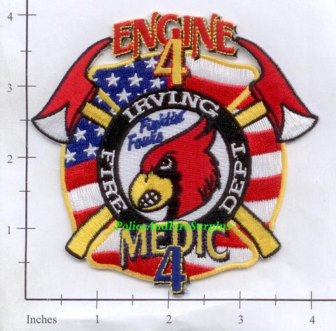 Texas - Irving Station 4 Fire Dept Patch