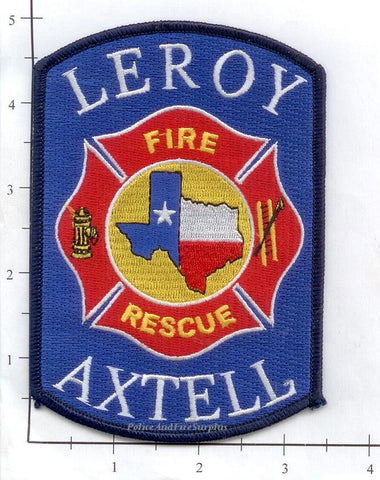 Texas - Leroy Axtell Fire Rescue, Fire Dept Patch v1