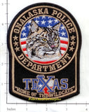 Texas - Onalaska Police Dept Patch