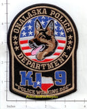 Texas - Onalaska K-9 Police Dept Patch