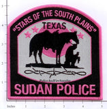 Texas - Sudan Police Dept Patch