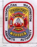 Virginia - Dulles Metropolitan Washing Airports Authority Crash Fire Rescue Fire Patch