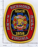 Virginia - Richmond Fire Dept Patch