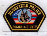 Virginia -  Bluefield K-9 Police Dept Patch