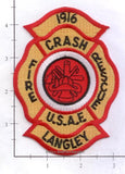 Virginia - Langley Air Force Base Fire Dept Patch