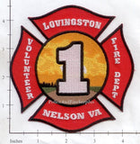 Virginia - Nelson - Lovingston Volunteer Fire Dept Patch