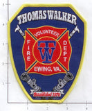 Virginia - Ewing - Thomas Walker Volunteer Fire Dept Patch