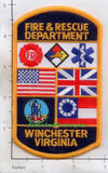 Virginia - Winchester Fire & Rescue Dept Patch