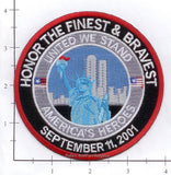 New York - Honor The Finest & Bravest Patch WTC 9-11