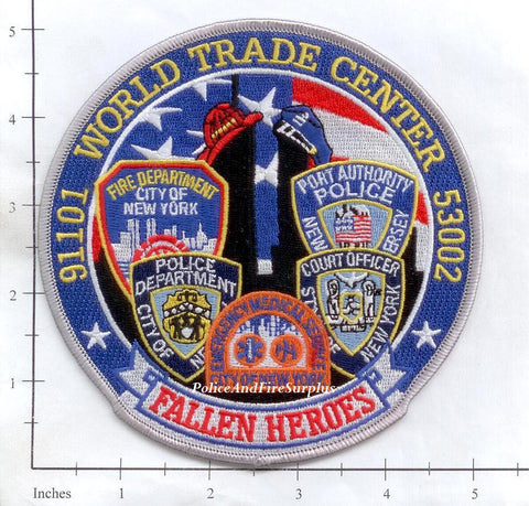 New York - New York City Fire Dept Patch WTC 9-11 patch v10 - Fallen Heroes