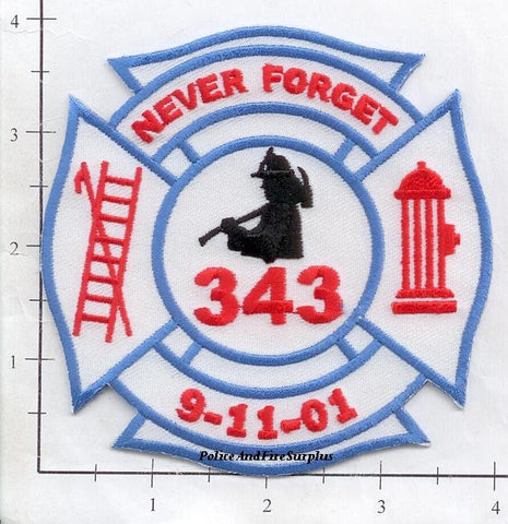 WTC - 911 We Will Never Forget Fire Dept Patch v6
