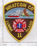 Washington - Lummi Island Whatcom County Fire Dept Patch