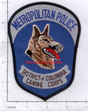 Washington DC - Canine Corps Police Dept Patch