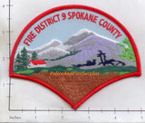 Washington - Spokane Fire District 9 Fire Dept Patch
