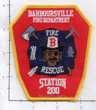 West Virginia - Barboursville Station 200 Fire Dept Patch
