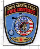 Wisconsin - ERV's Sparta Area Fire District Patch