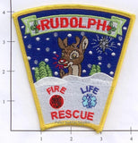 Wisconsin - Rudolph Fire Life Rescue, Fire Dept Patch