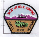 Wyoming - Jackson Hole Airport Aircraft Rescue Fire Dept Patch