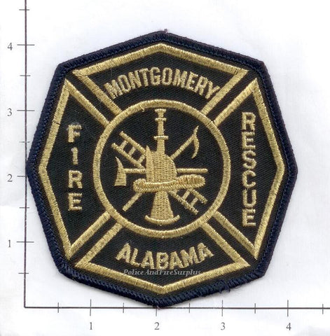 Alabama - Montgomery Fire Rescue Patch (Gold Stitching)