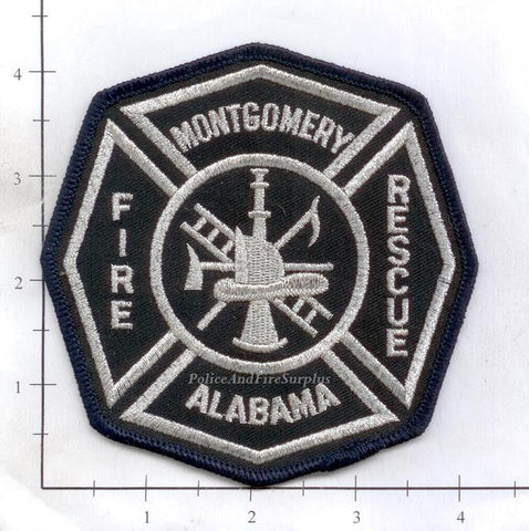 Alabama - Montgomery Fire Rescue Patch (Silver Stitching)