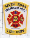 Alabama - Seven Hills Fire Dept Patch