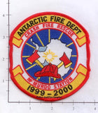Antarctica - McMurdo Station Crash Fire Rescue Fire Dept Patch NFSA