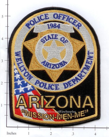Arizona - Wellton Police Dept Patch