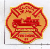 California - Alcatraz Island Fire Engine #1 Fire Dept Patch