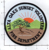 California - Alta Oaks Sunset Volunteer Fire Dept Patch