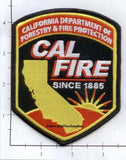 California - CAL FIRE Dept of Forestry & Fire Protection Fire Dept Patch v2