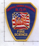 California - Central Sierra Regional ROP Fire Science Patch
