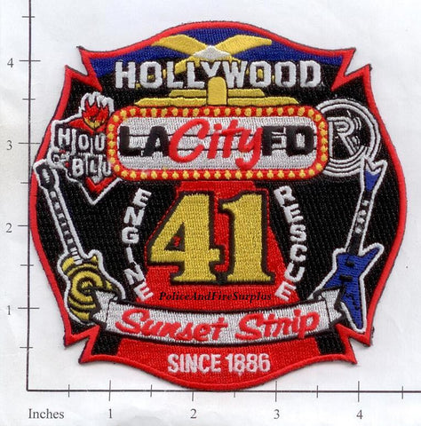 California - Los Angeles City Engine 41 Rescue 41 Fire Dept Patch