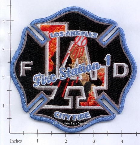 California - Los Angeles City Station 1 Fire Dept Patch