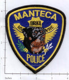 California - Manteca K-9 Police Dept Patch