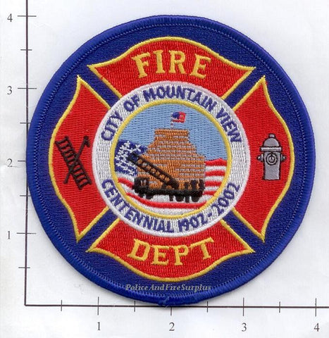 California - Mountain View Fire Dept Patch