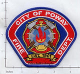 California - City of Poway Fire Dept Patch