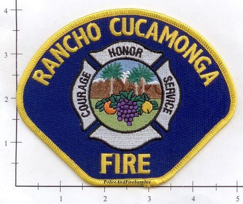 California - Rancho Cucamonga Fire Dept Patch