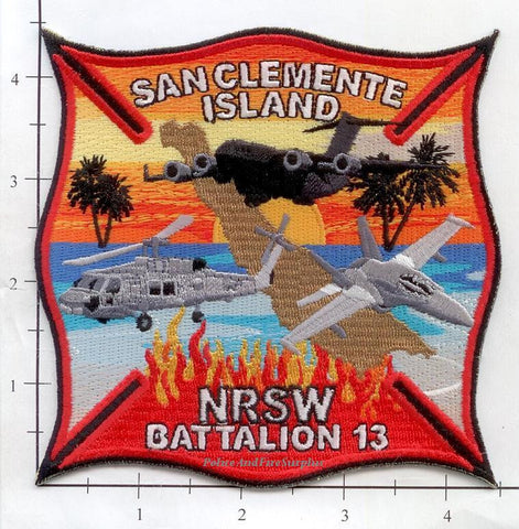 California - San Clemente Island NRSW Batt 13 Fire Dept Patch v1