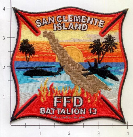 California - San Clemente Island FFD Batt 13 Fire Dept Patch v3