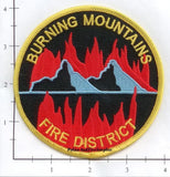 Colorado - Burning Mountains Fire District Fire Dept Patch