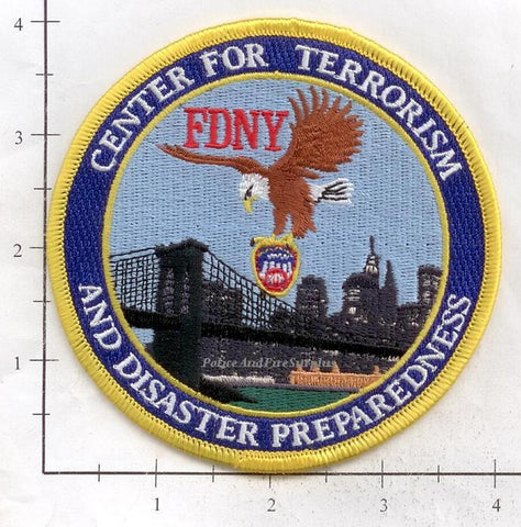 New York City Center for Terrorism and Disaster Preparedness Fire Dept Patch