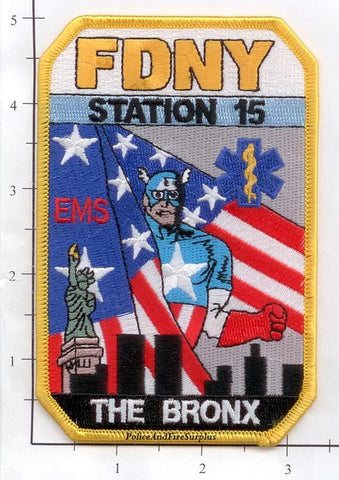 New York City EMS Station 15 Fire Dept Patch v2