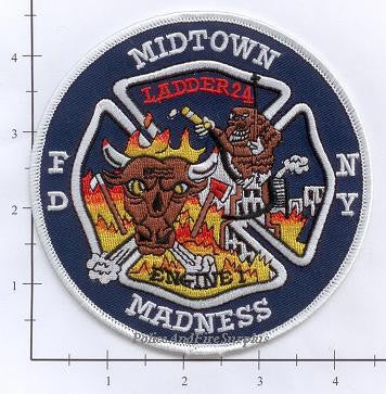 New York City Engine   1 Ladder 24 Fire Patch v4 Round