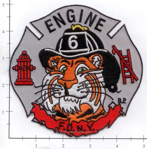 New York City Engine   6 Fire Patch v12 Gray