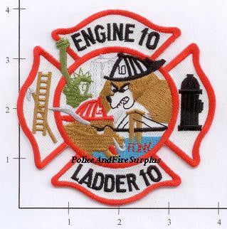 New York City Engine  10 Ladder 10 Fire Patch v2 Maltese