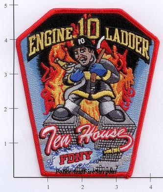New York City Engine  10 Ladder 10 Fire Dept Patch v9 N/S