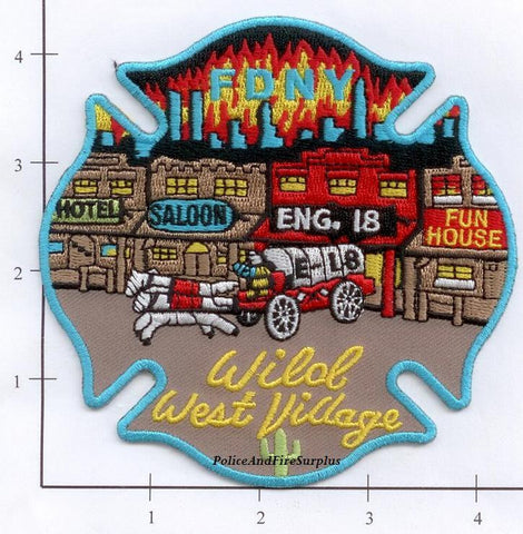 New York City Engine  18 Fire Patch v 4 Wild West