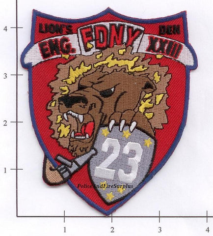 New York City Engine  23 Fire Dept Patch v5 Red
