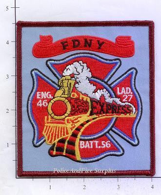 New York City Engine  46 Ladder 27 Battalion 56 Fire Patch v6