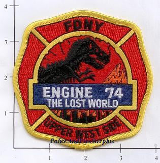 New York City Engine  74 Fire Patch v3 Lost World